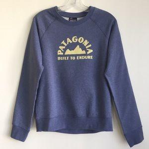 Patagonia blue Geologers crew neck sweatshirt sz S